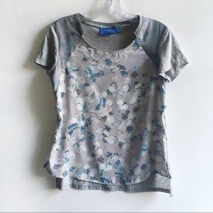 Simply Vera Vera Wang t-shirt floral gray high low